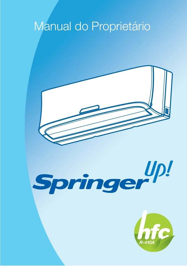MP HW Springer HFC R-410A Manual do Proprietário