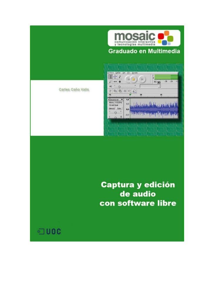 Graduado en Multimedia (UOC)                                   Audio con herramientas libresExtracción de audio con CDexEs...