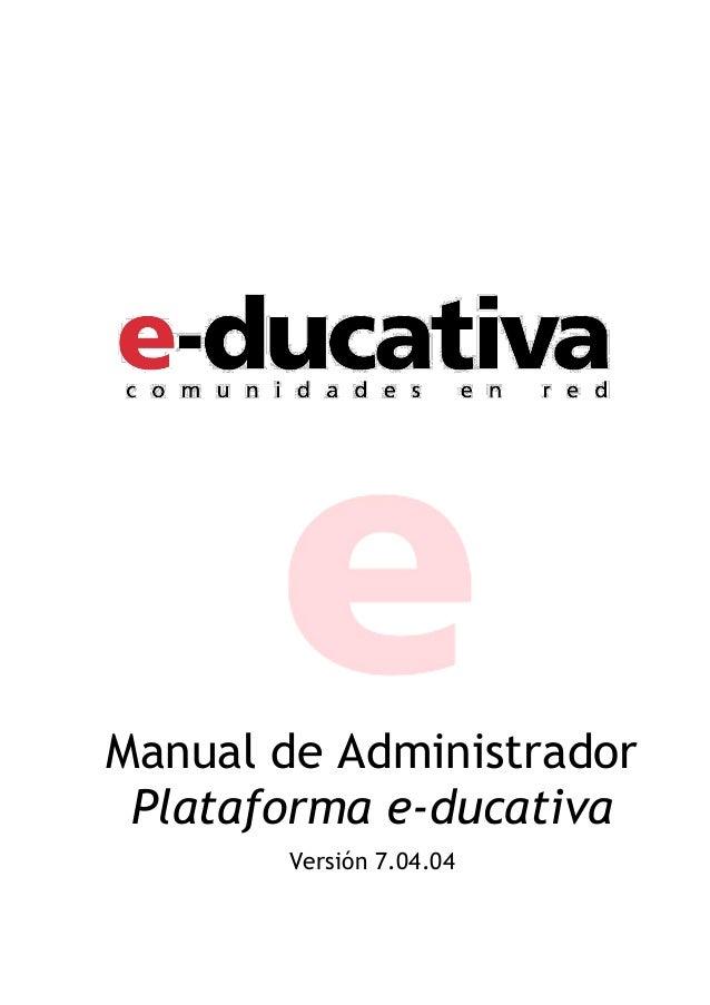 Manual plataforma E-ducativa