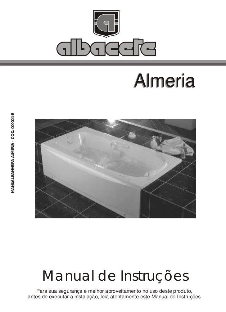 Albacete Manual Banheira Almeria