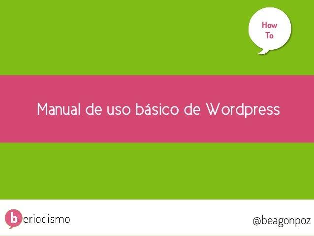 Manual básico de Wordpress