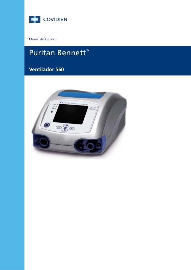 Manual del Usuario  Puritan Bennett  Ventilador 560  TM