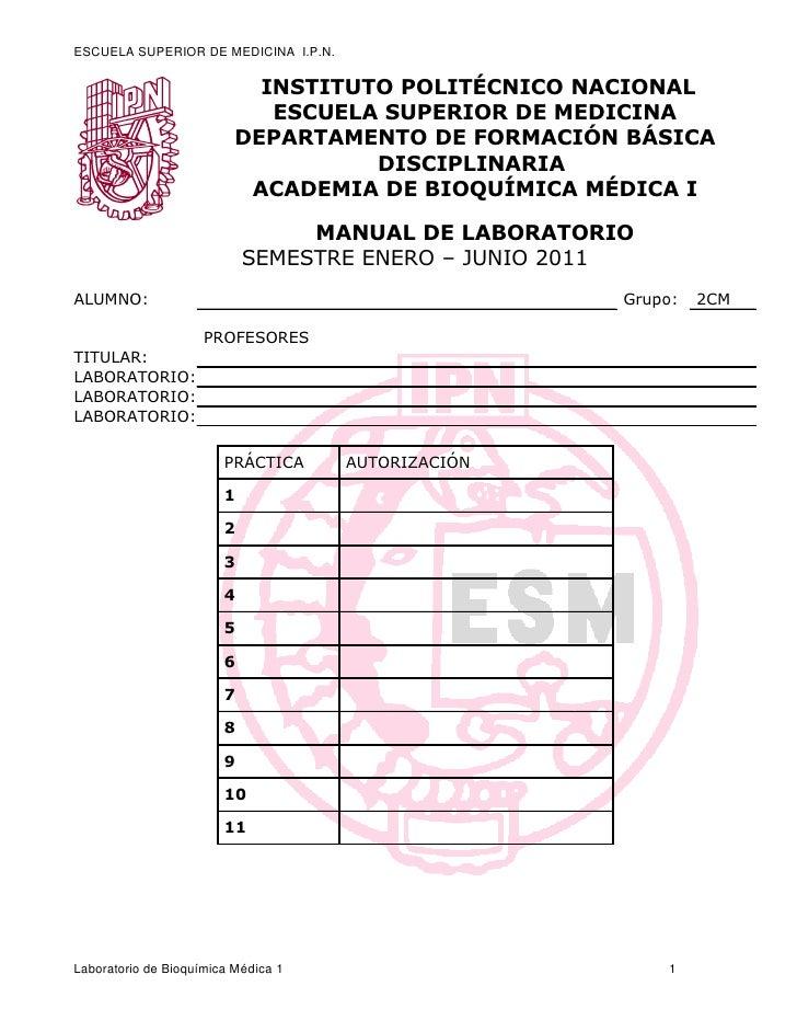 ESCUELA SUPERIOR DE MEDICINA I.P.N.                            INSTITUTO POLITÉCNICO NACIONAL                             ...