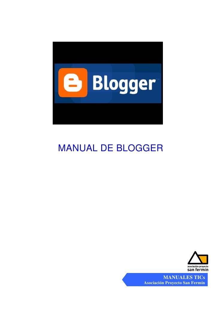 Manual  B L O G G E R