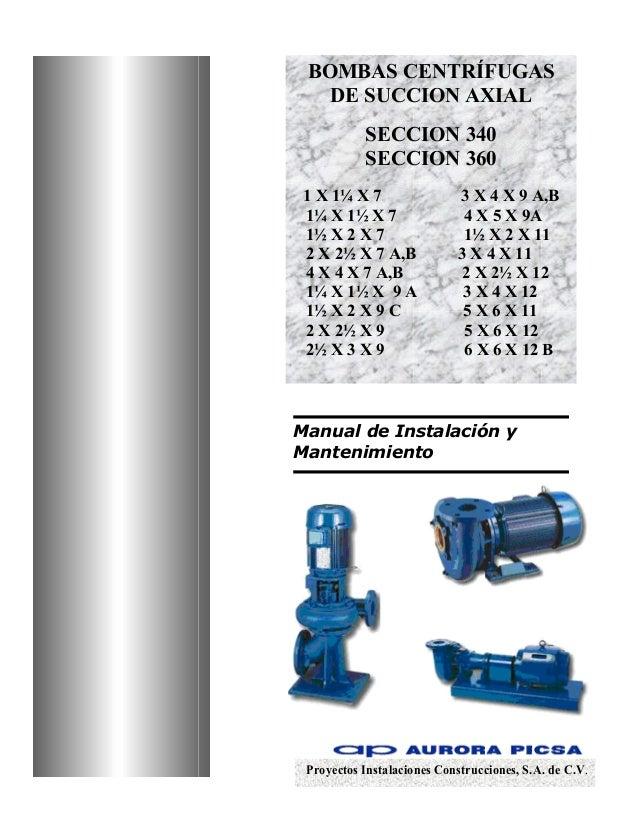 Manual bombas centrifugas