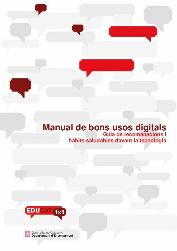 Manual bons usos digitals