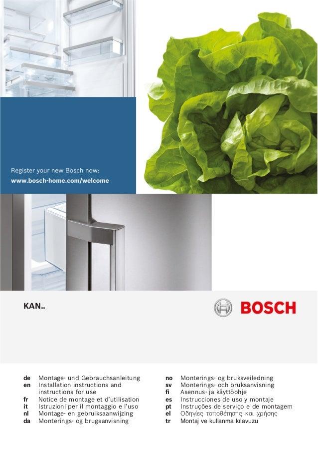 KAN.. de MontageĆ und Gebrauchsanleitung en Installation instructions and instructions for use fr Notice de montage et d'u...
