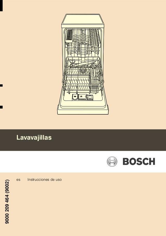 Manual bosch lavavajillas srs43 e82eu - Lavavajillas bosch panelable ...