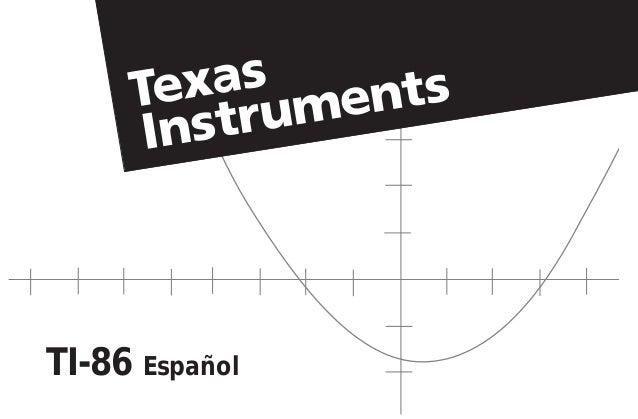 Manual calculadora texas86