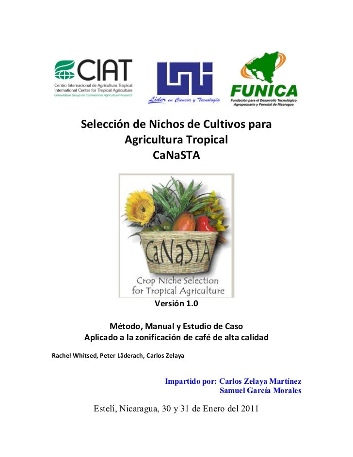 Selección de Nichos de Cultivos para                 Agricultura Tropical                      CaNaSTA                    ...