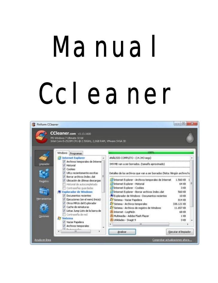 ManualCcleaner