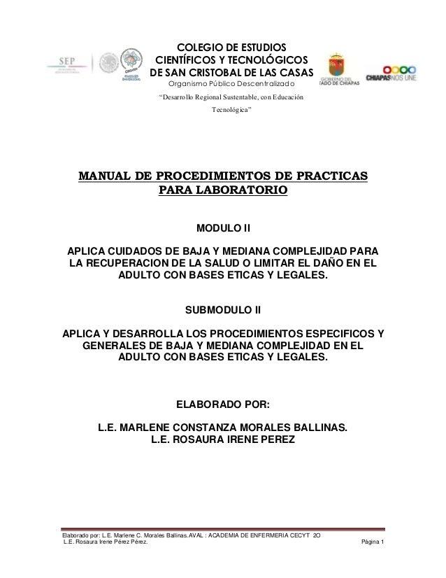 Manual cecyt  academia  (modulo ii) fundamentos de enfermeria