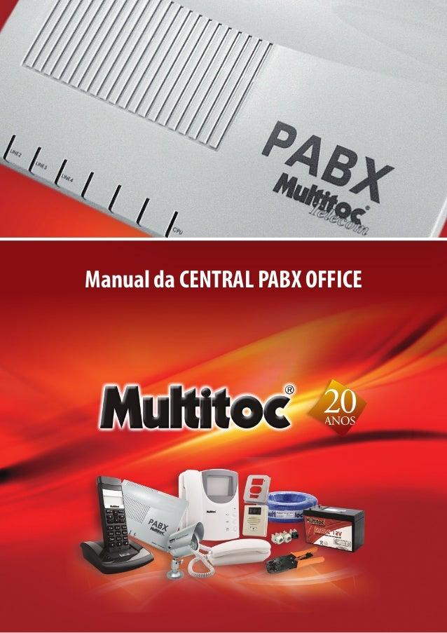 Manual da CENTRAL PABX OFFICE