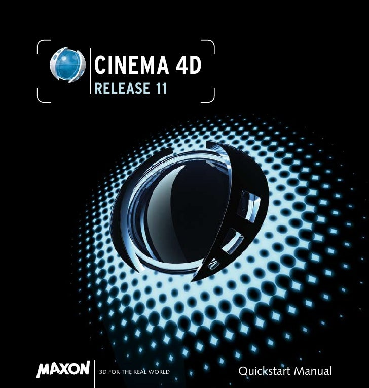 CINEMA 4DRELEASE 113D FOR THE REAL WORLD   Quickstart Manual