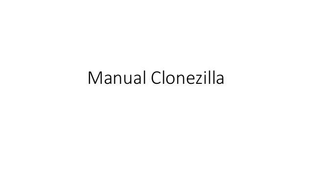 Manual Clonezilla