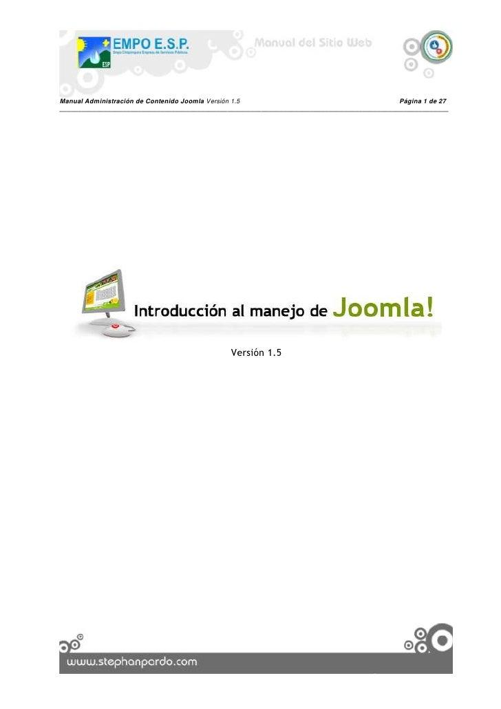 Versión 1.5<br />Introducción:<br />Señores ________________________, nos complace presentarles el siguiente manual de usu...