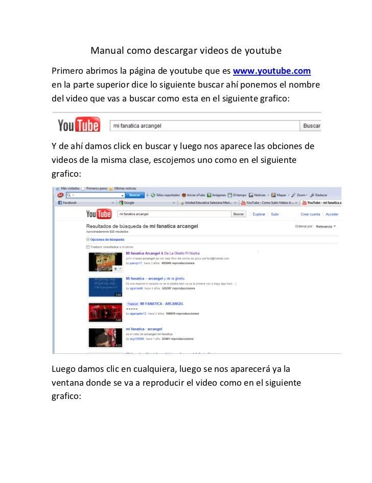 Manual como descargar videos de youtube