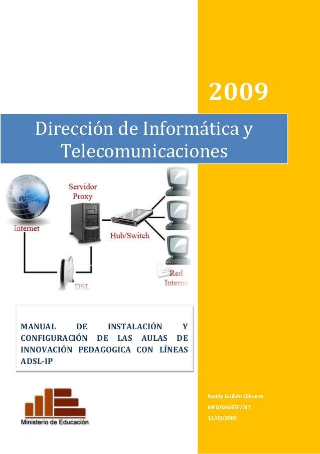 2009         DireccióndeInformáticay Telecomunicaciones               MANUAL DE INSTAL...