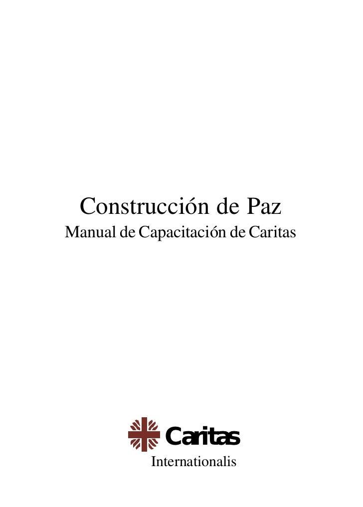 Manual constucción de paz Caritas internationalis