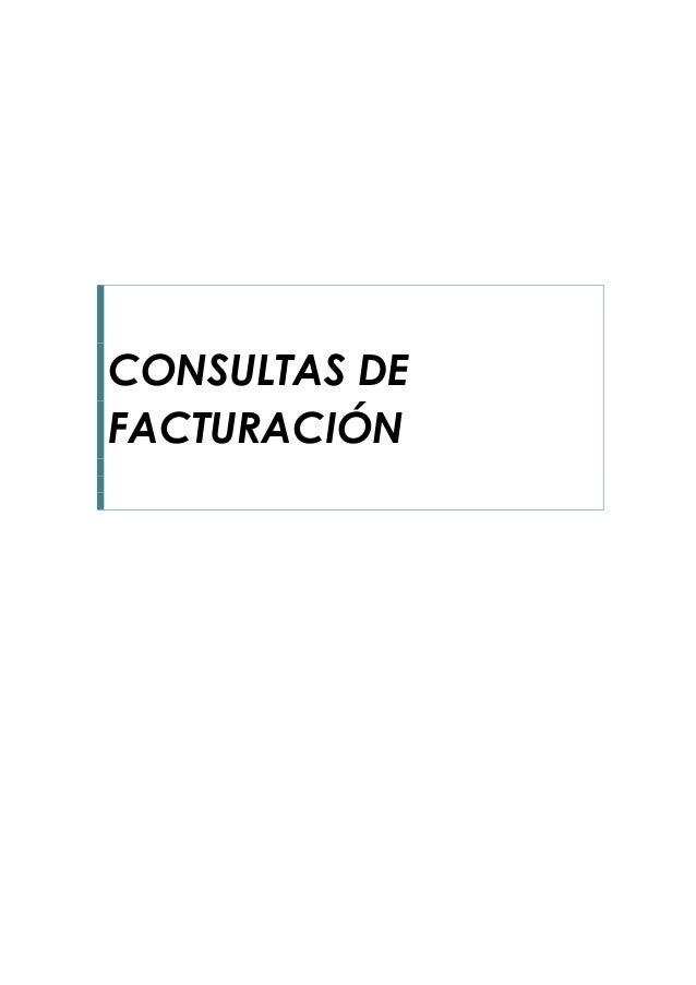 CONSULTAS DE FACTURACIÓN