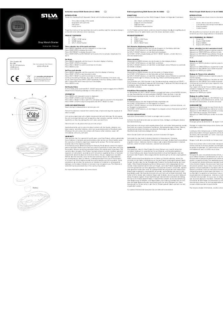 Manual cronómetro silva starter 56066