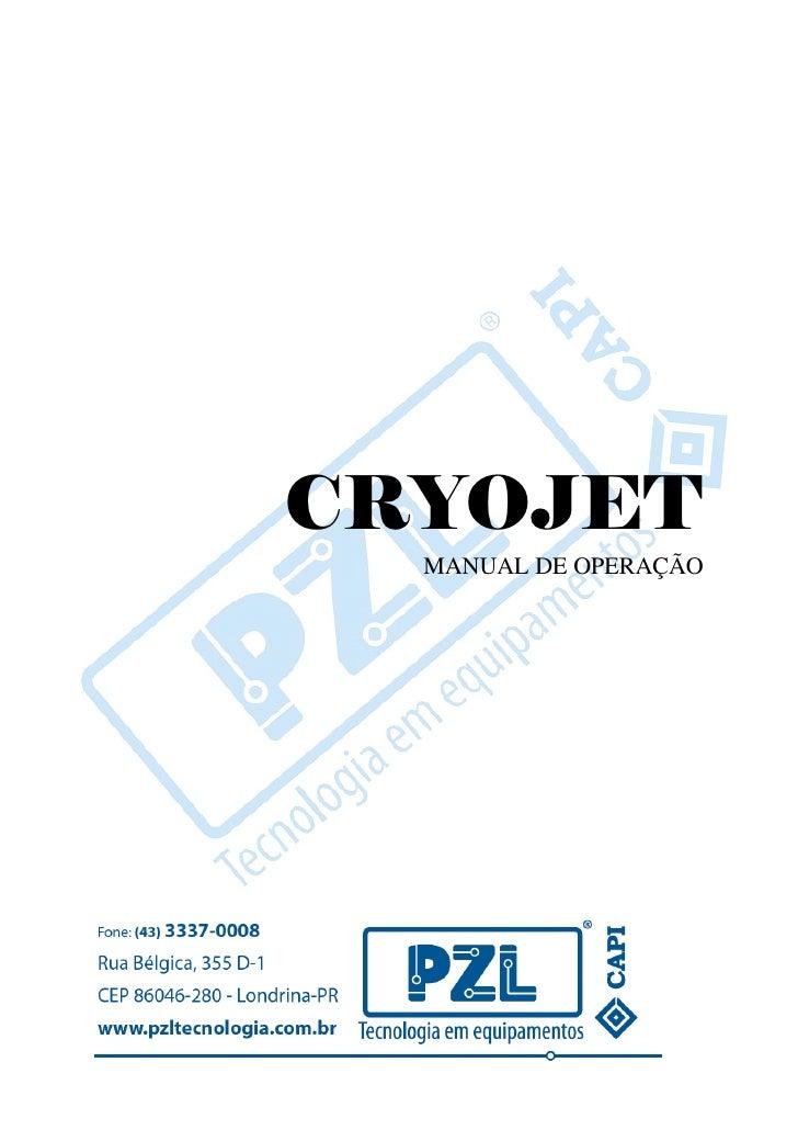 CRYOJET  MANUAL DE OPERAÇÃO
