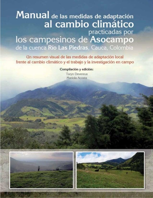 Manual de las medidas de adaptación al cambio climático practicadas por  los campesinos de Asocampo  de la cuenca Río Las ...