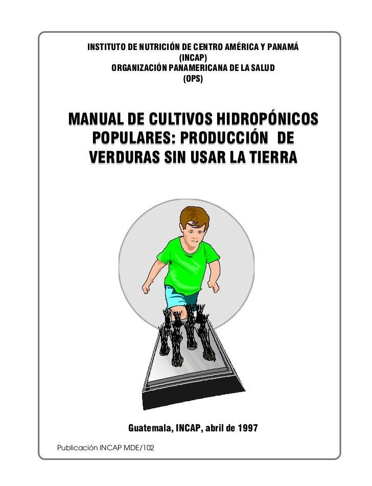 Manual cultivo hidroponico