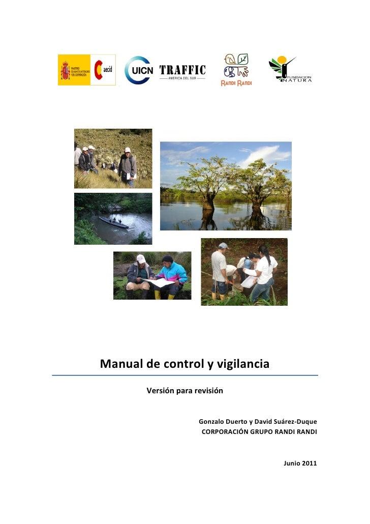 Control y Vigilancia para Áreas Protegidas