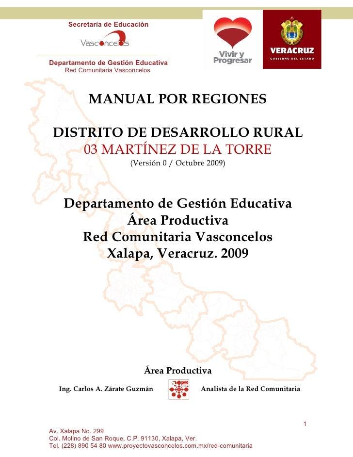 Secretaría de Educación     Departamento de Gestión Educativa      Red Comunitaria Vasconcelos                 MANUAL POR ...