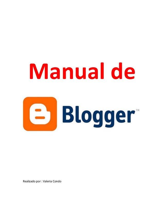 Manual y Tutorial Blogger