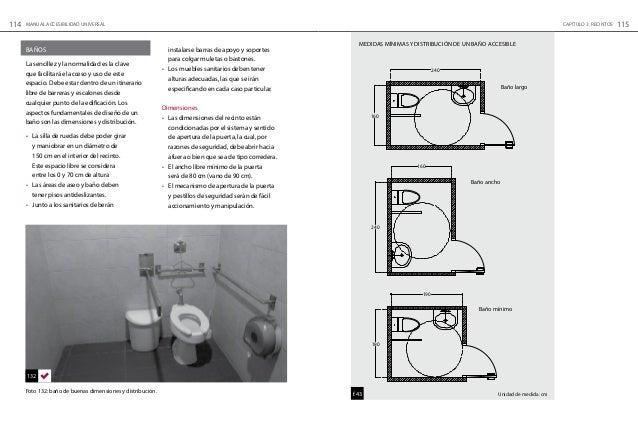 Medidas Baño De Servicio:Manual de Accesibilidad Universal