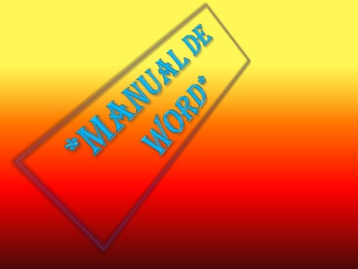 *Manual de Word*<br />