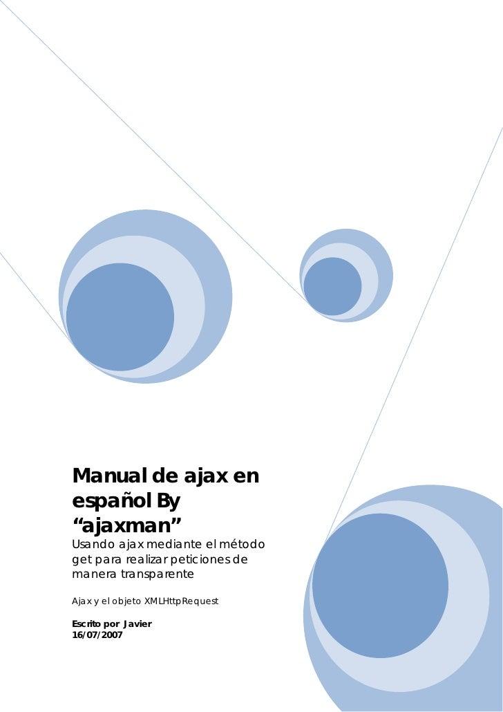 Manual De Ajax En Espanol