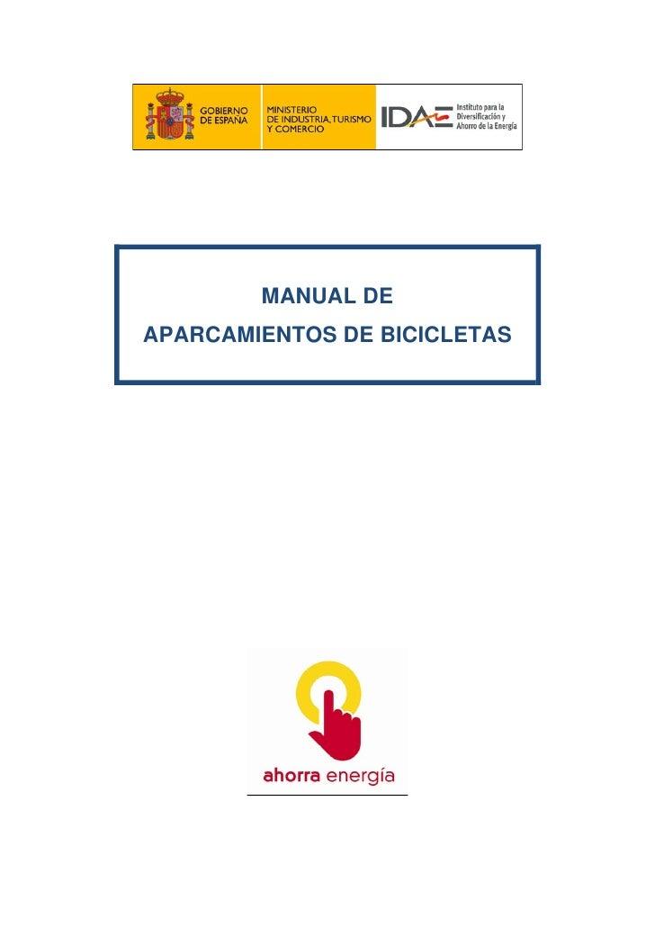 MANUAL DE APARCAMIENTOS DE BICICLETAS