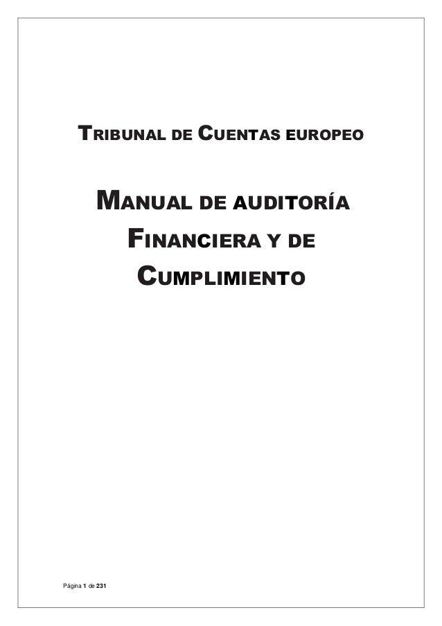 MANUAL DE AUDITORÍA FINANCIERA Y DE CUMPLIMIENTO DEL