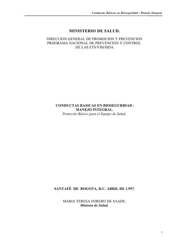 Manual De Bioseguridad Minsalud