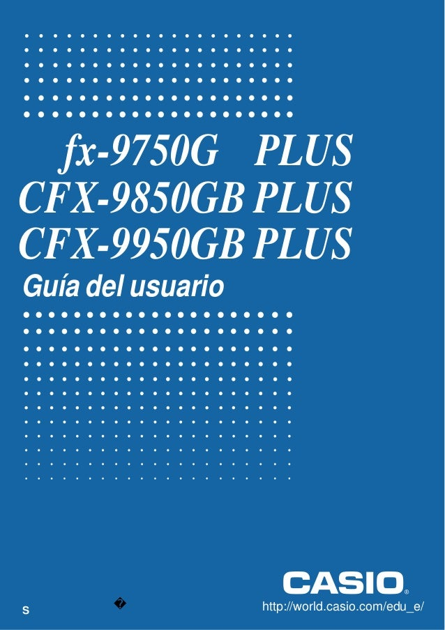 Manual de calculadora casio cfx-9850gb-plus