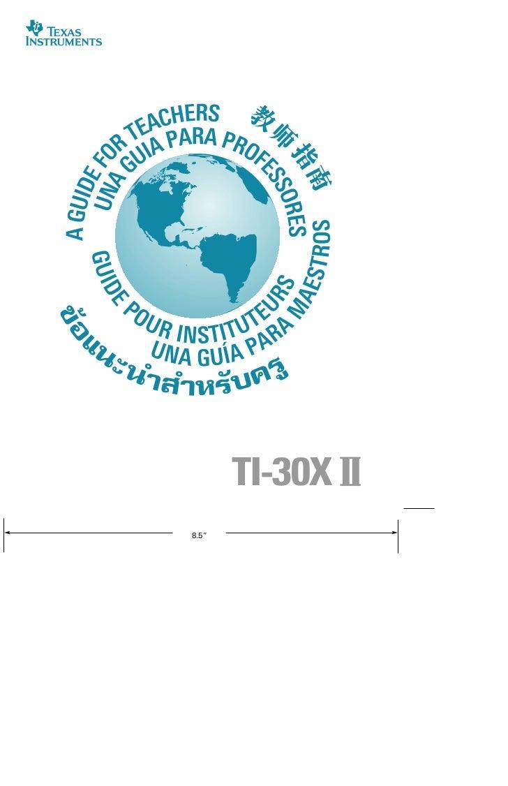 """Front11""""              TI-30X II      8.5"""""""