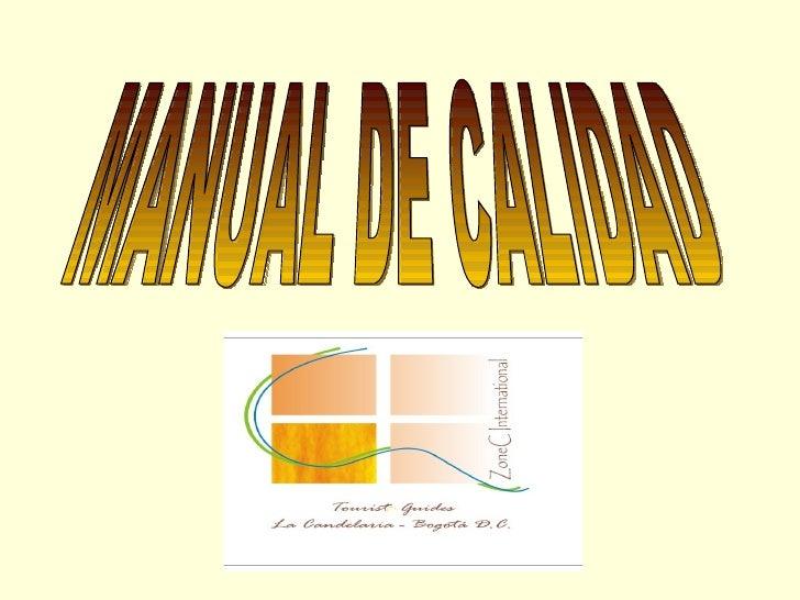 Manual de Calidad Zone C International