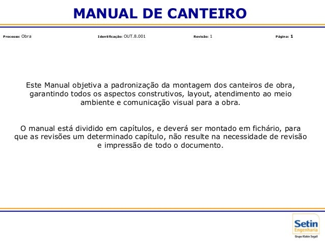 Manual de canteiro 1010