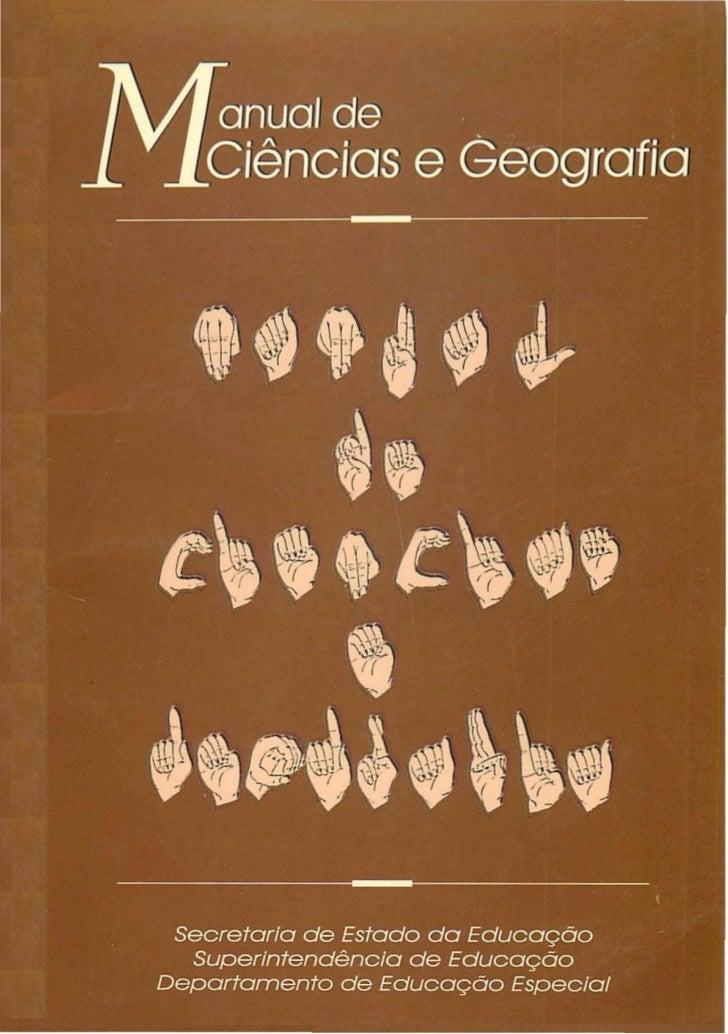 Manual de Ciencias e Geografia em Libras