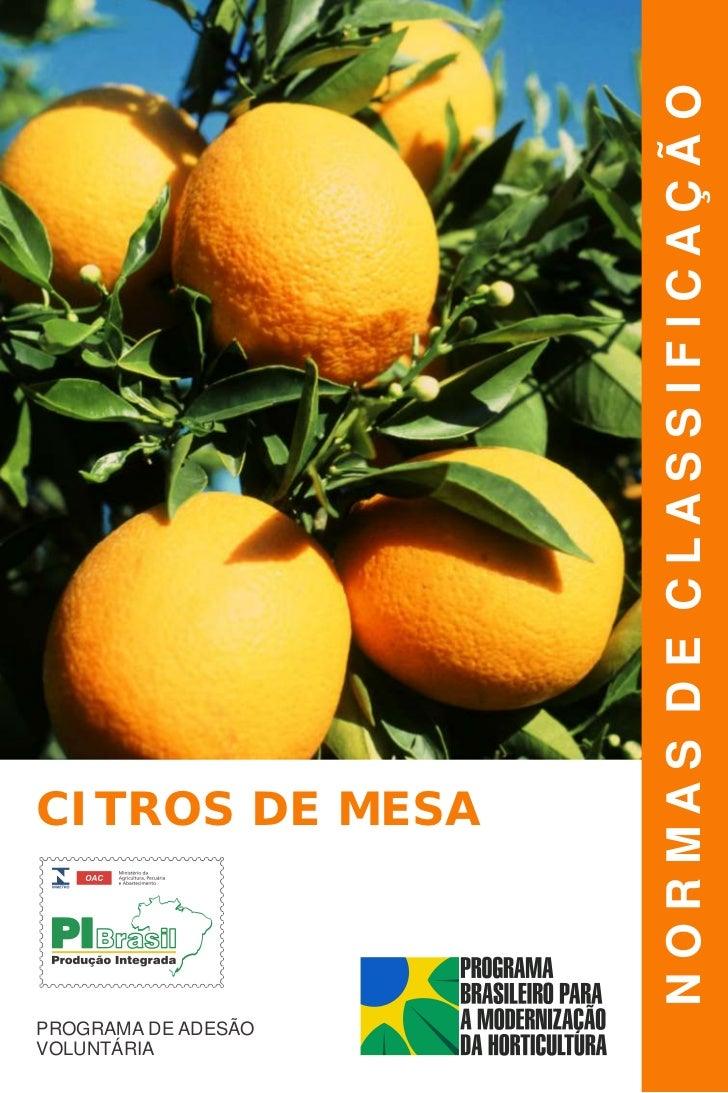 Manual de classificacao de citros de mesa