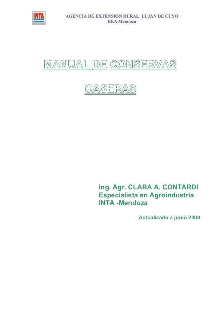 AGENCIA DE EXTENSION RURAL LUJAN DE CUYO               EEA Mendoza           Ing. Agr. CLARA A. CONTARDI           Especia...