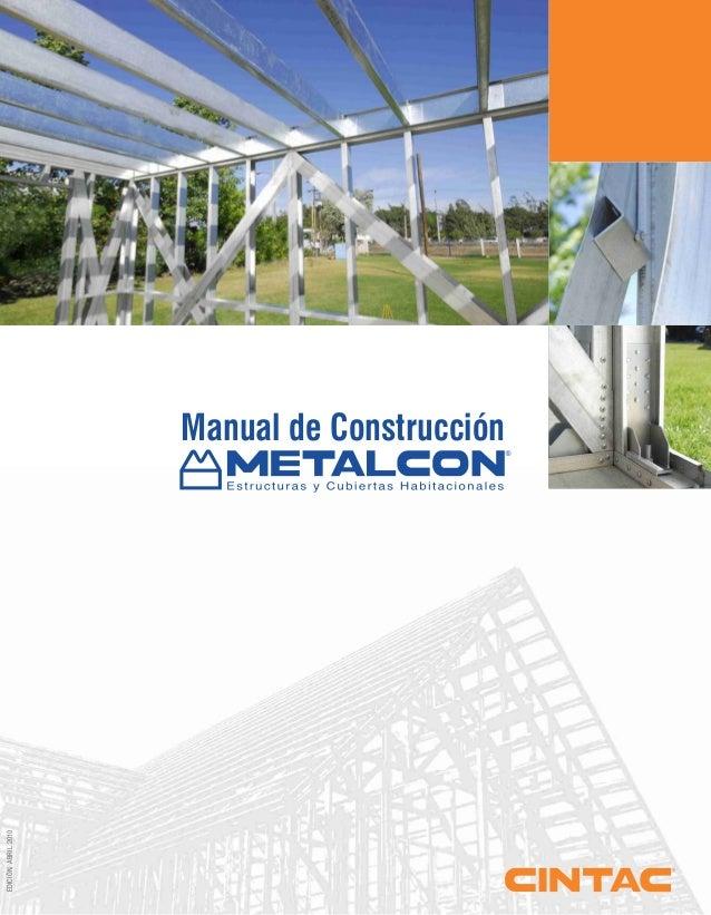 EDICIÓN,ABRIL2010 Manual de Construcción