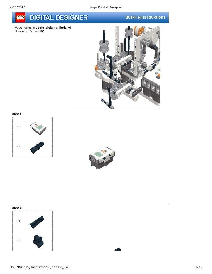 7/14/2010                                  Lego Digital Designer        Model Name: m odelo_vielam anibela_v1    Number of...