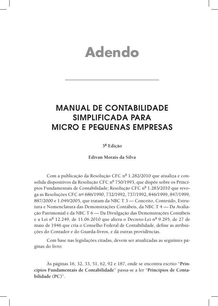 Manual de Contabilidade Simplificada para Micros e Pequenas Empresas 2010 - 3ª ed. - Adendo | IOB e-Store