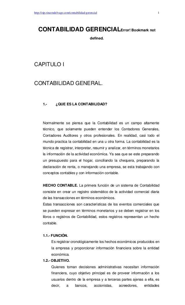 http://zip.rincondelvago.com/contabilidad-gerencial                                  1   CONTABILIDAD GERENCIALError! Book...
