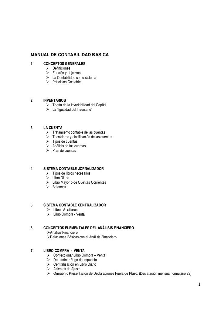 MANUAL DE CONTABILIDAD BASICA1   CONCEPTOS GENERALES        Definiciones        Función y objetivos        La Contabilidad...
