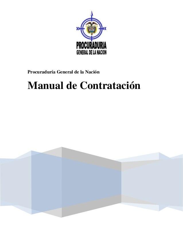 Procuraduría General de la NaciónManual de Contratación